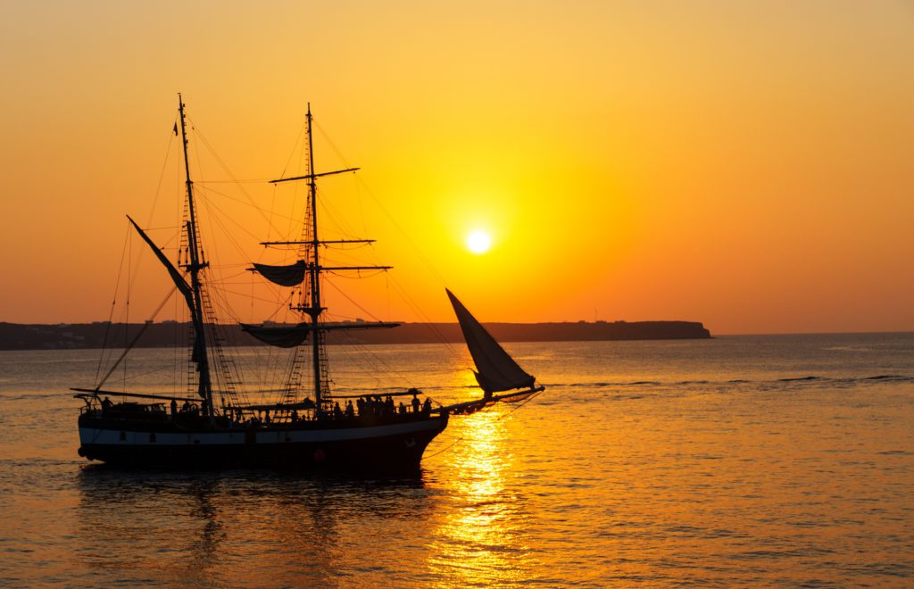 sunset-with-sailing-ship