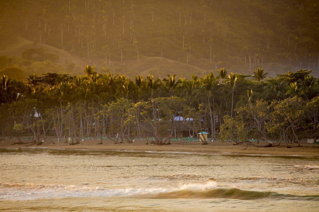 Tropical beach in the Dominican Republic at dawn