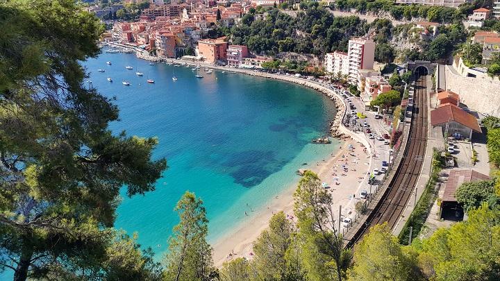 Vue panoramique de Villefranche sur Mer, Côte d'Azur